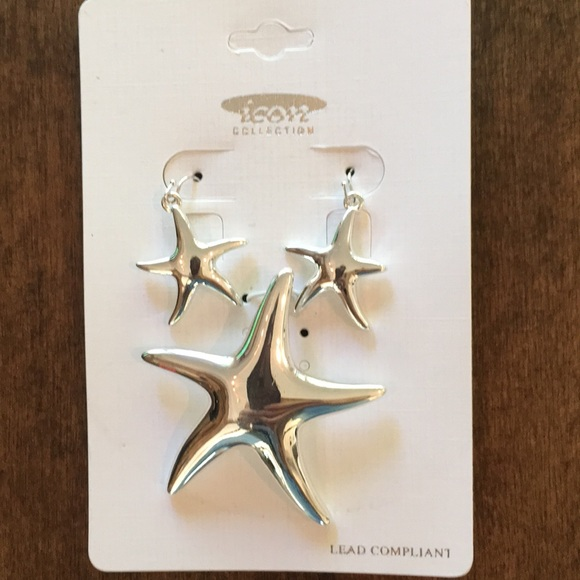 Starfish Earrings and Pendant Set.